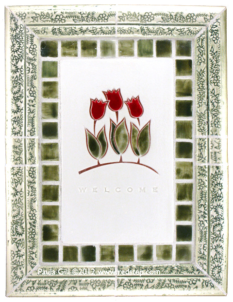 Three Red Tulips WELCOME